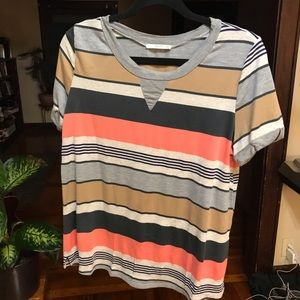 Le Lis | Size L. Striped Short Sleeve Tee.